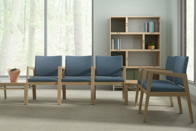 Ghế băng chờ bằng gỗ