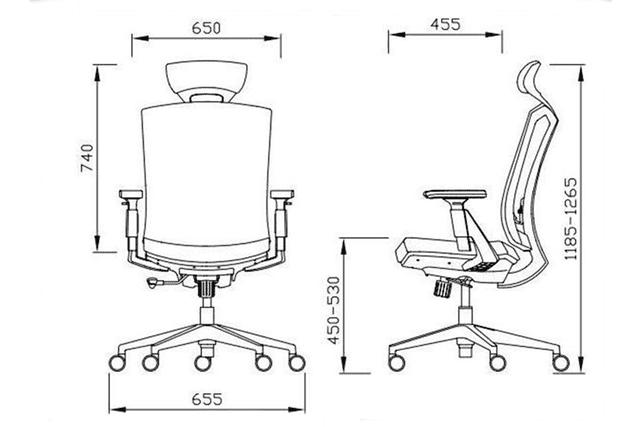 Kích thước ghế tựa lưng