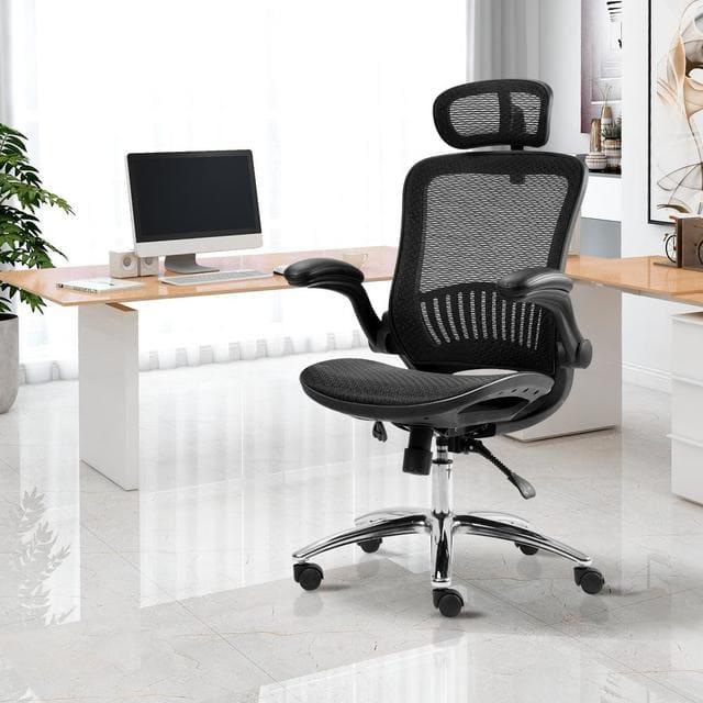 Mẫu ghế văn phòng Merax Black Ergonomic