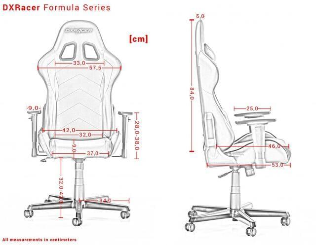 Thông ố kỹ thuật của ghế F1 FORMULA