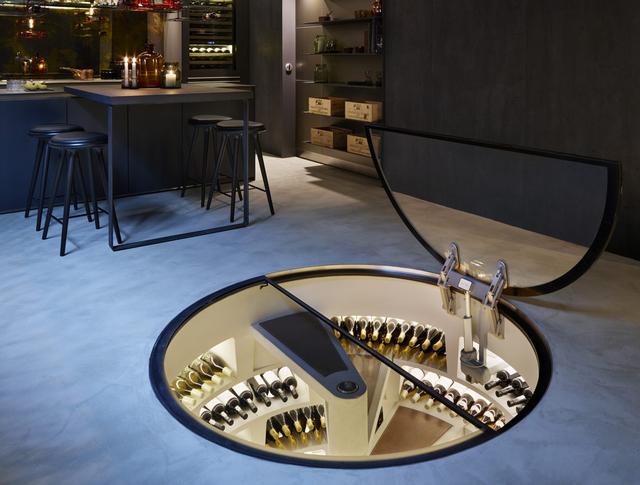 Mẫu tủ đựng rượu vang âm dưới lòng đất