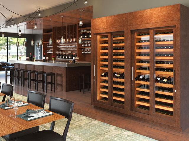 Mẫu tủ đựng rượu vang bằng gỗ sang trọng