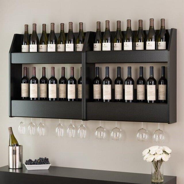 Mẫu tủ đựng rượu vang treo tường